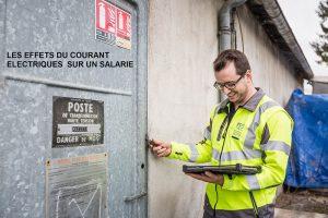 Accidents du travail : Les effets du courant électrique sur un individu.